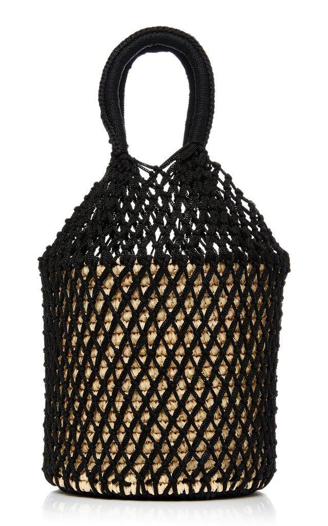 Netted Straw Tote