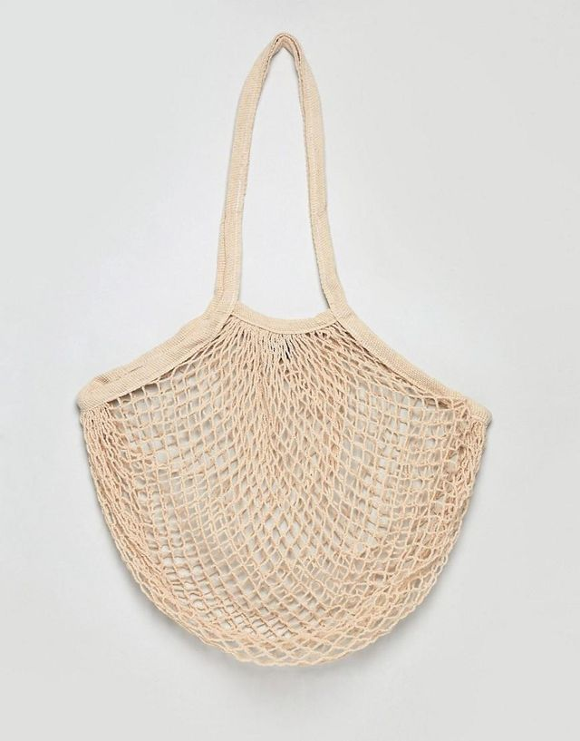 net carry bag in cream