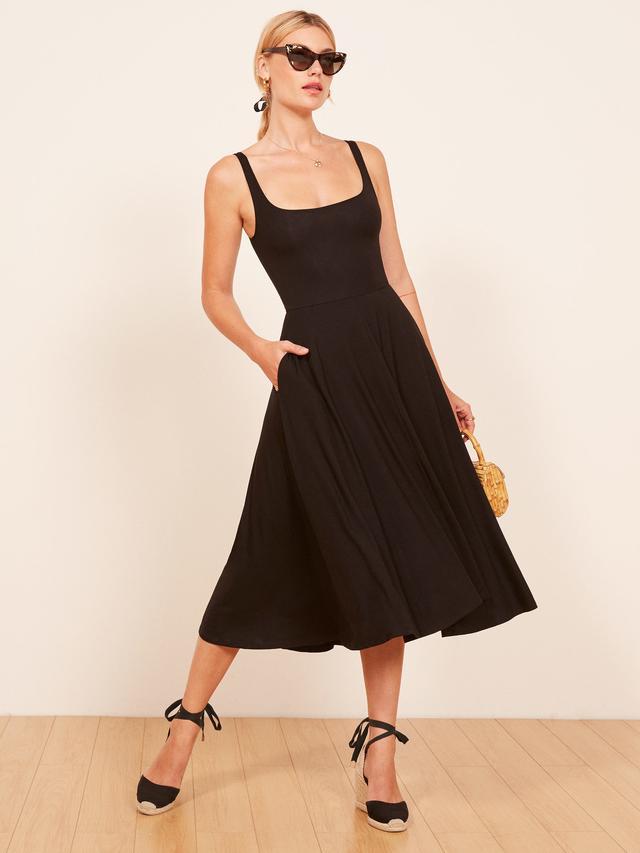 Reformation Rou Dress in Black