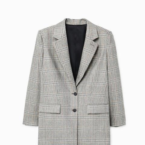Prince of Wales Wool-Blend Blazer