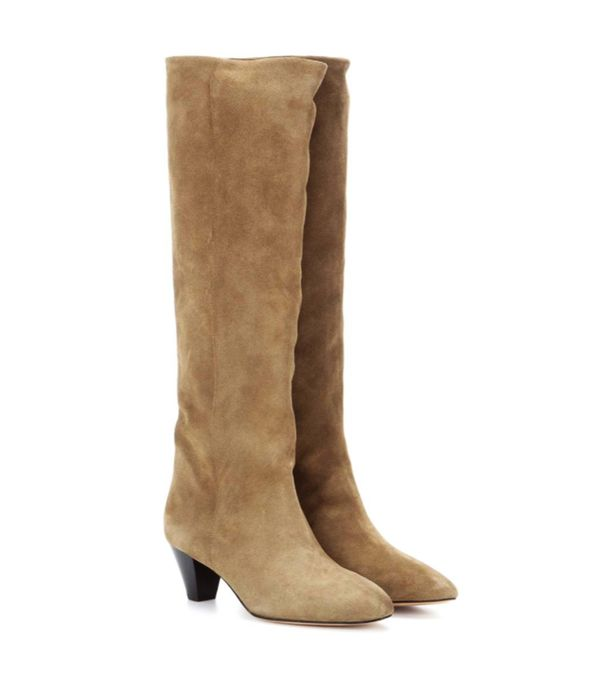 Autumn Outfit Ideas: Suede knee high boots