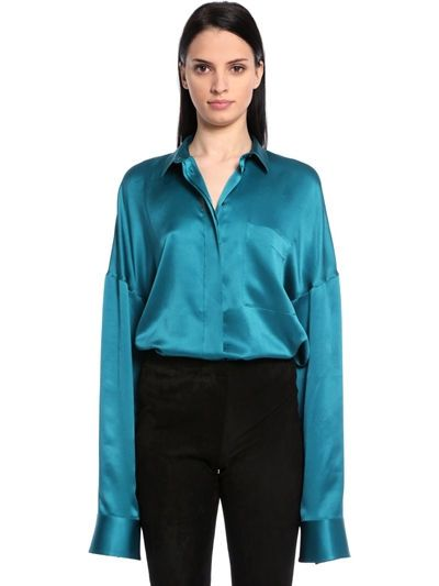 Haider Ackermann Oversized Silk Satin Shirt