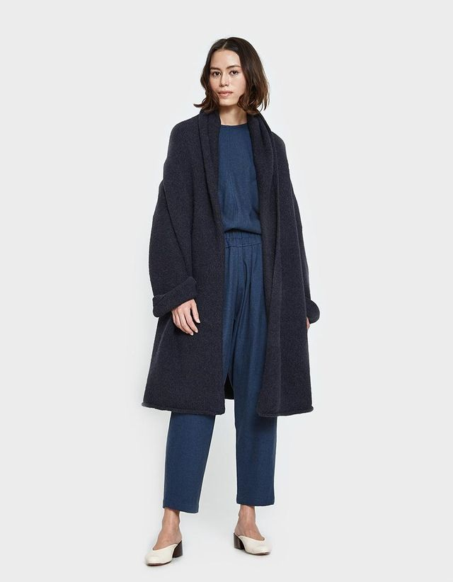 Capote Coat in Marine