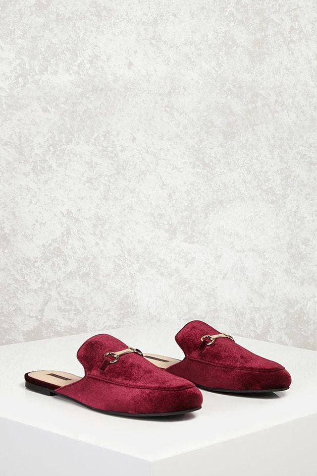 Velvet Slide Loafers