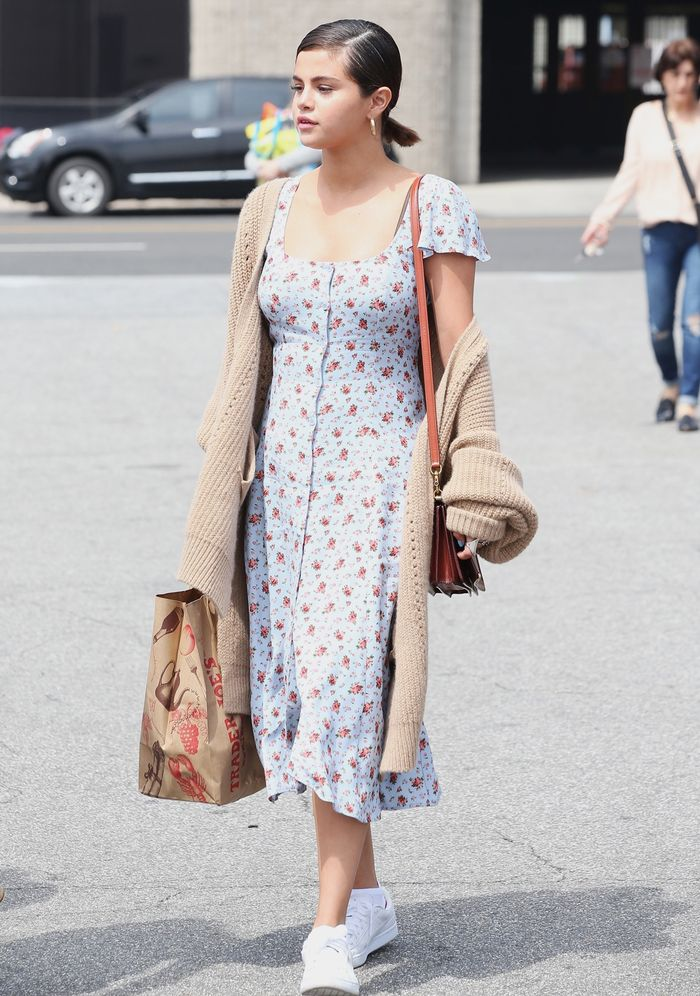 Selena Gomez Outfits: Reformation dress