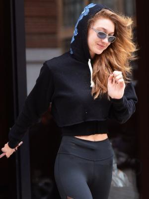See for Yourself: Gigi Hadid's It Sneakers Elevate Black Leggings