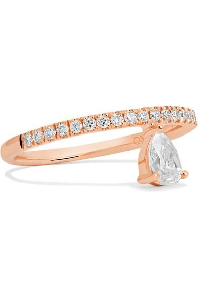 Duchess 18-karat Rose Gold Diamond Ring