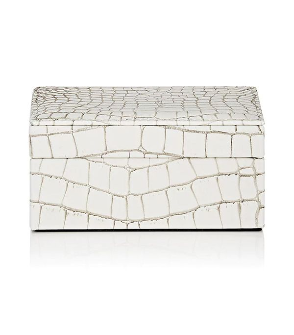 Crocodile-Embossed Leather Small Box