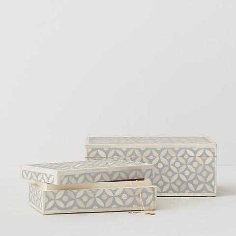 Mosaic Bone Inlay Jewelry Box