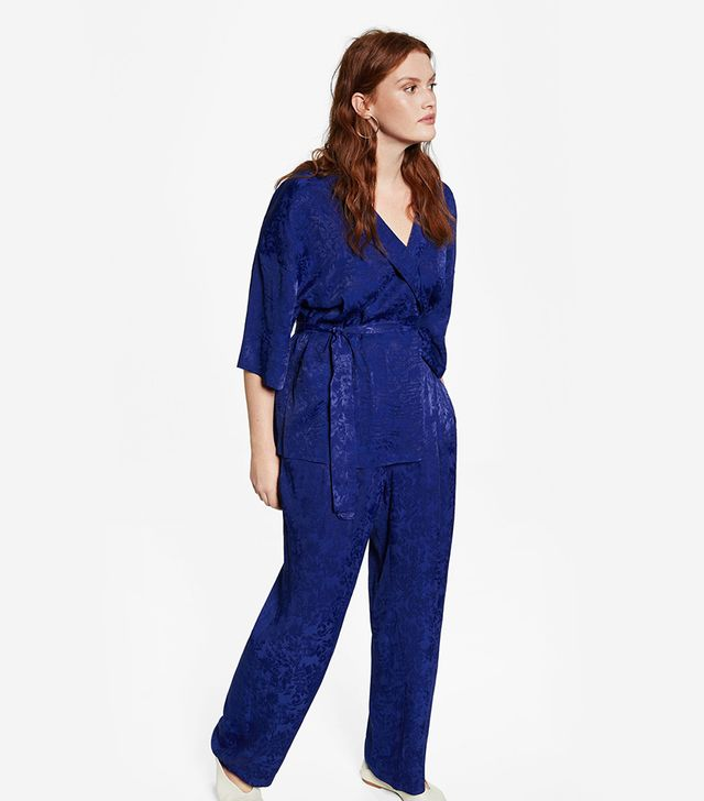 Violeta by Mango Jacquard Fluid Trousers
