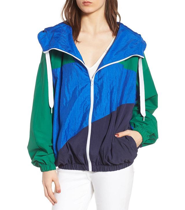 Women's Kendall + Kylie Colorblock Windbreaker Jacket