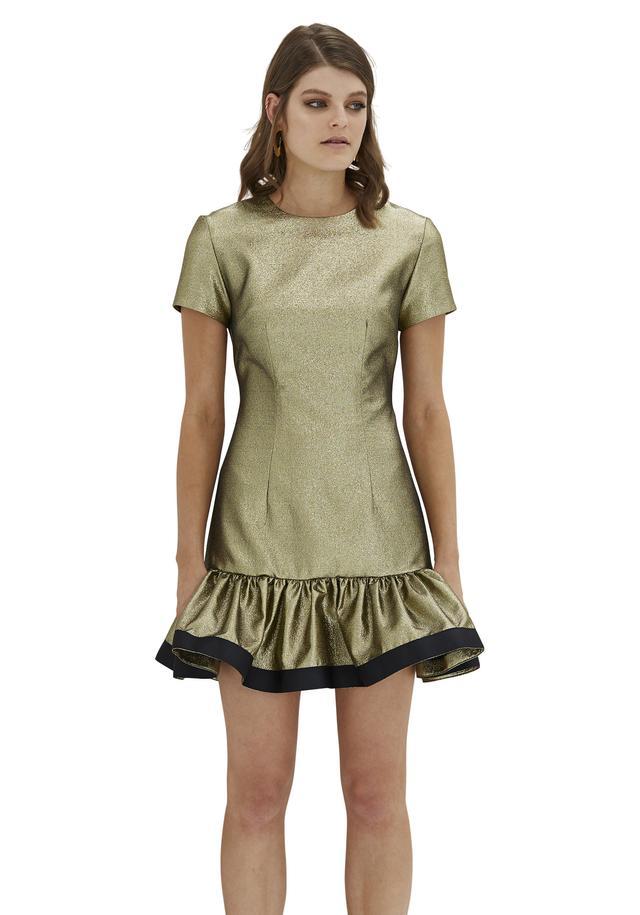 By Johnny Gold Yarn Frill Tee Mini Dress