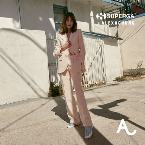 Alexa Chung, Thank You for Showing Us How to Style a Suit With Sneakers