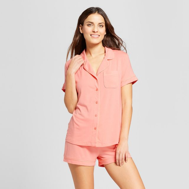 Gilligan & O'Malley Pajama Set in Pom Pom Pink