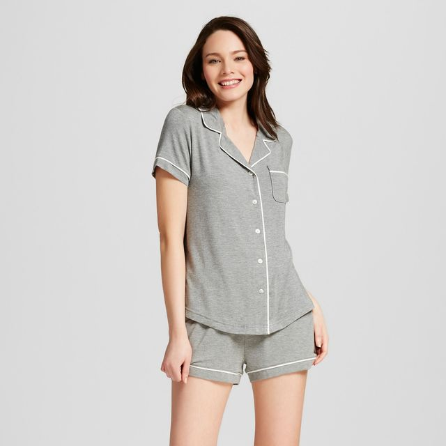 Gilligan & O'Malley Pajama Set in Medium Heather Gray