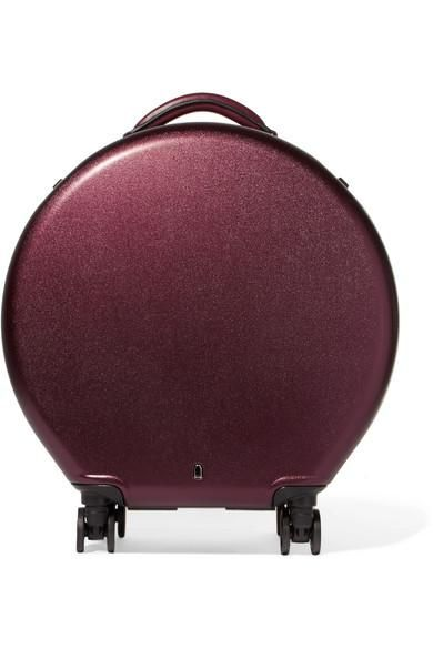 Leather-trimmed Hardshell Suitcase