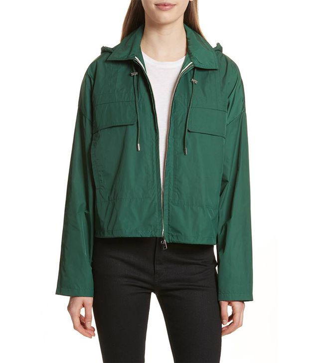 Active Twill Crop Hooded Jacket