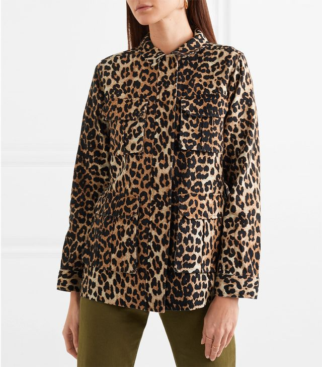 Camberwell Leopard-print Linen-blend Canvas Jacket