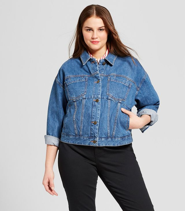 Plus Size Swing Jean Jacket