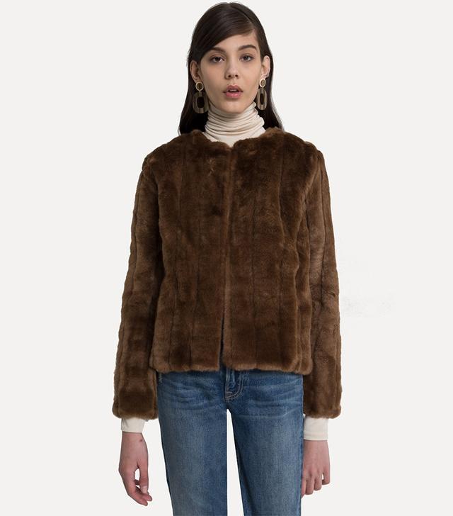 Pixie Market Lined Mink Faux Fur Jacket