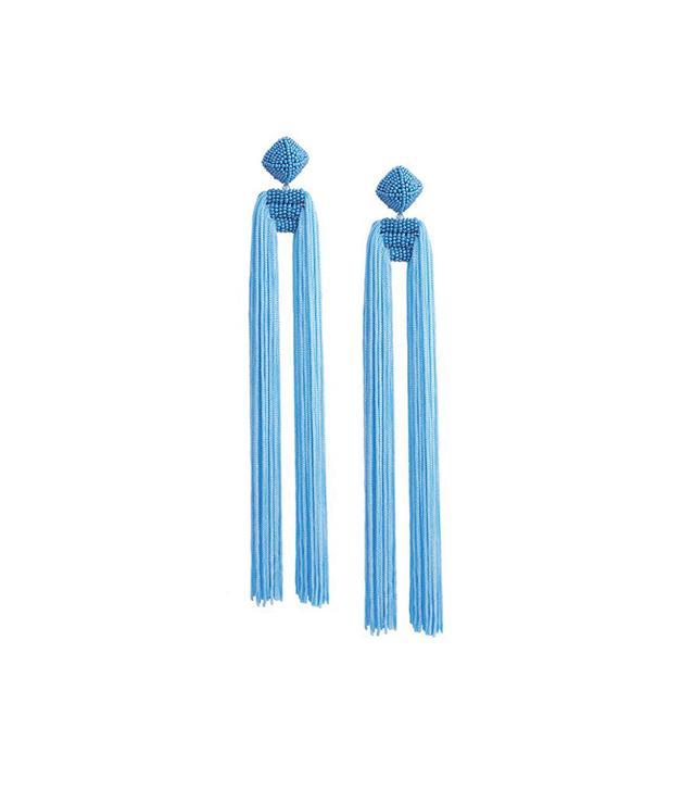 Sachin & Babi Blue Dupio Tassel Clip Earring