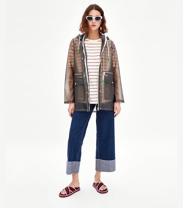 Zara Semi-Sheer Raincoat