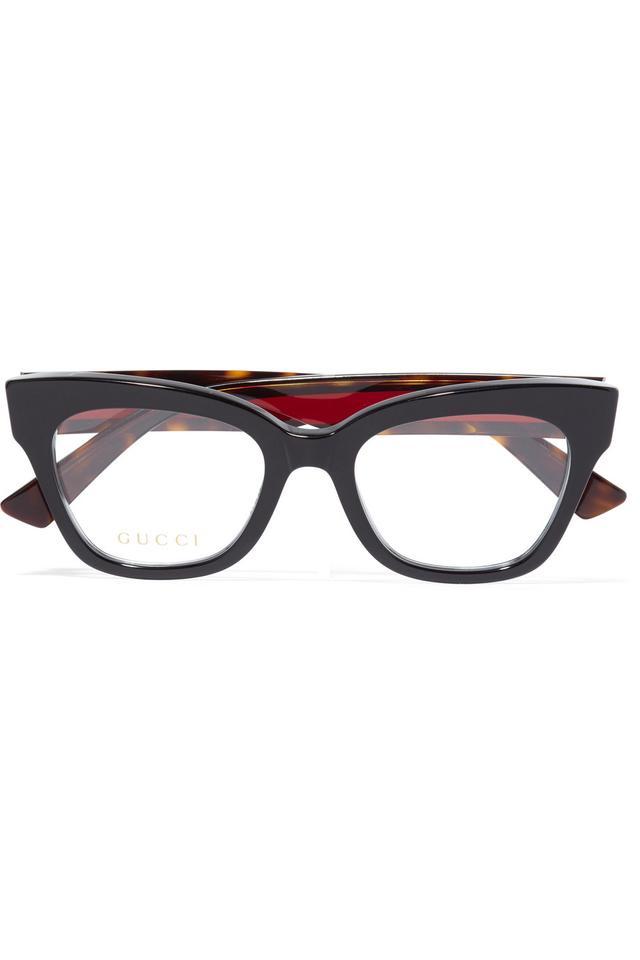 Gucci Cat-Eye Embellished Acetate Optical Glasses