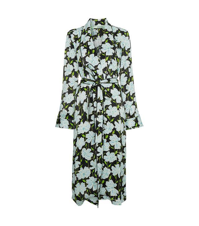 Floral belted robe jacket