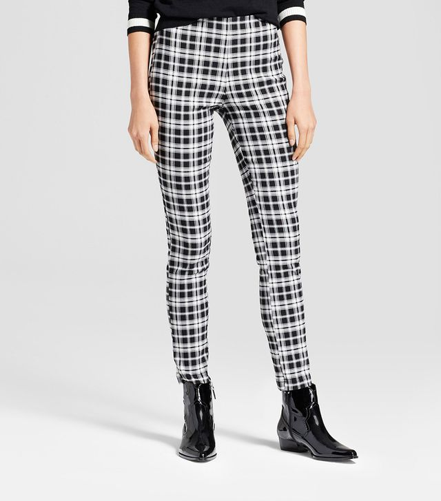 Who What Wear Skinny Plaid Crop Pants