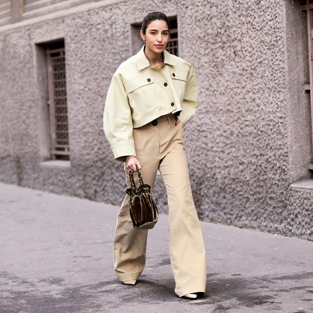 So you love your neutrals and are rarely willing to part with them? Get creative with your approach to the classics when you pair flared trousers with something oversize up top. Opt for a...