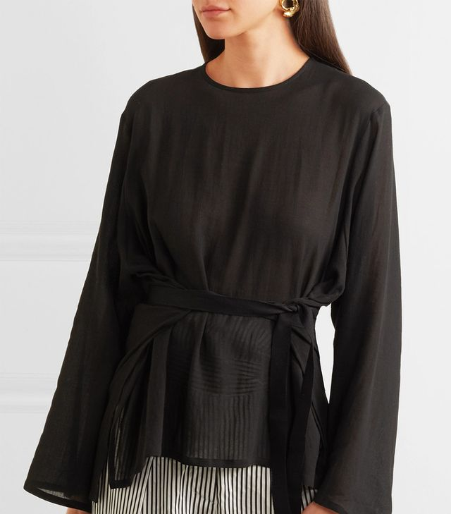 Santo Belted Cotton Top