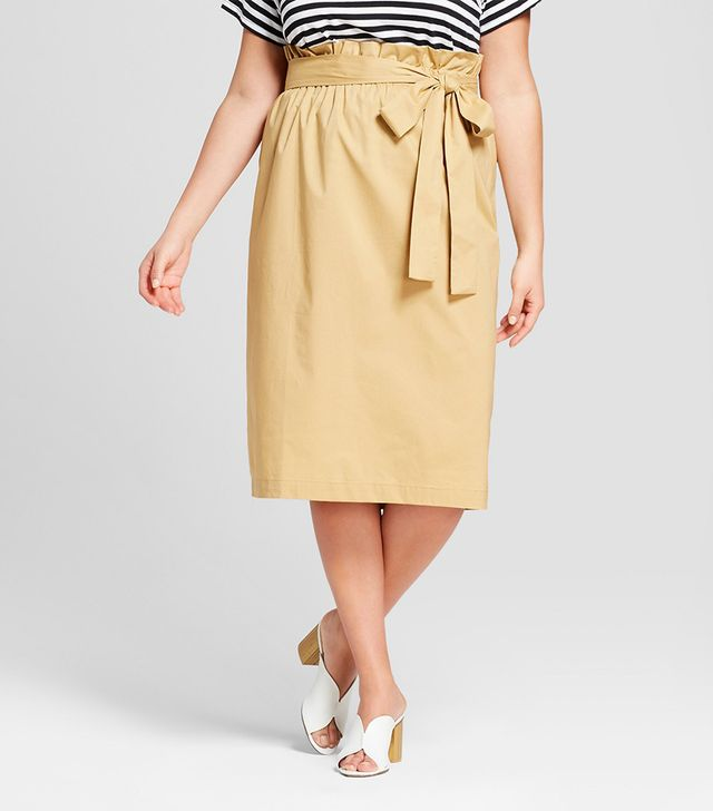 Who What Wear Belted Paperbag Skirt