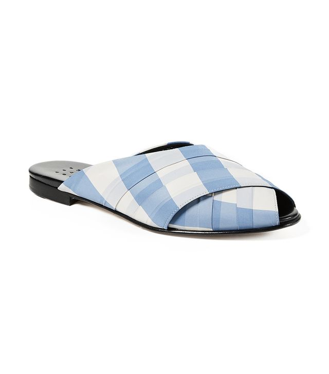 Gingham Wrapped Pajama Sandals