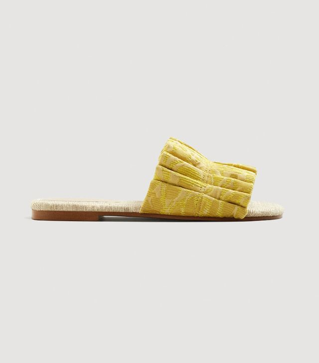 Mango Jacquard Flat Sandals