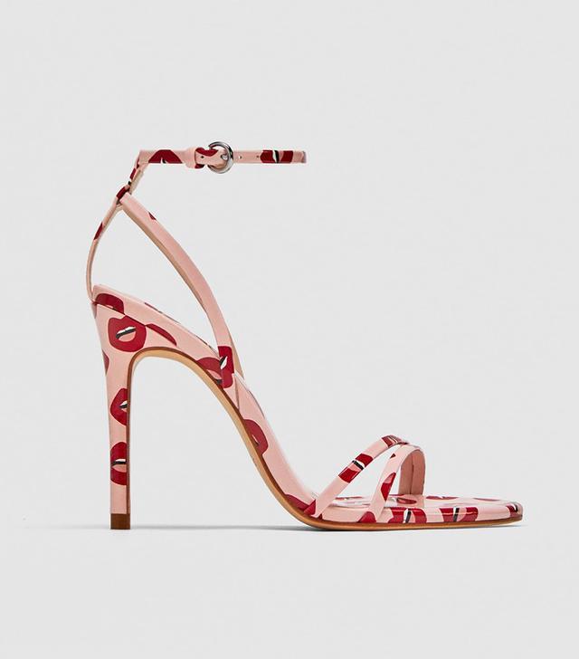 Zara Printed High Heel Sandals