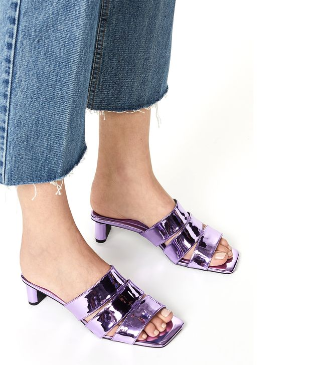 Rhymes Metallic Slide Sandals