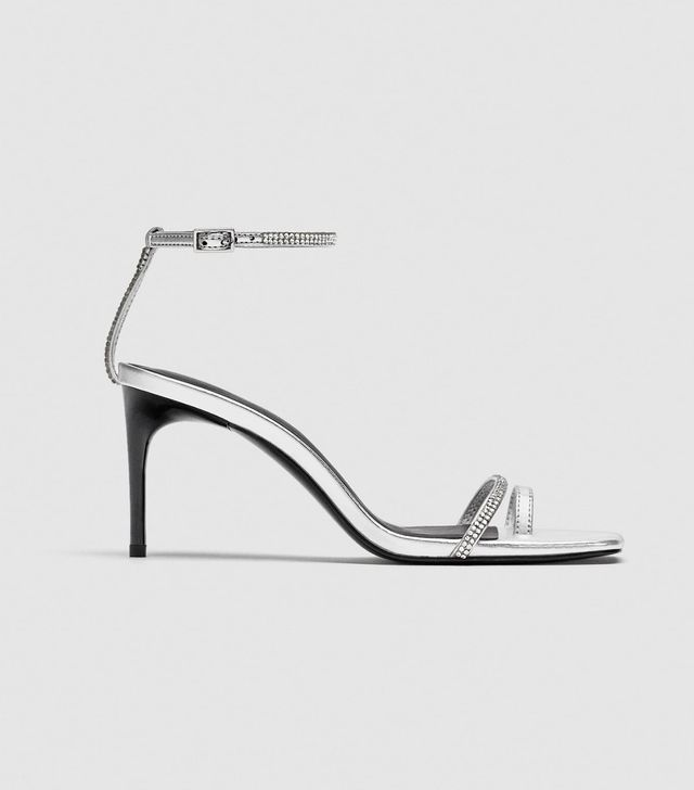 Zara Shiny High-Heel Sandals