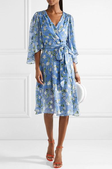 Halsey Belted Floral-print Devoré-chiffon Dress