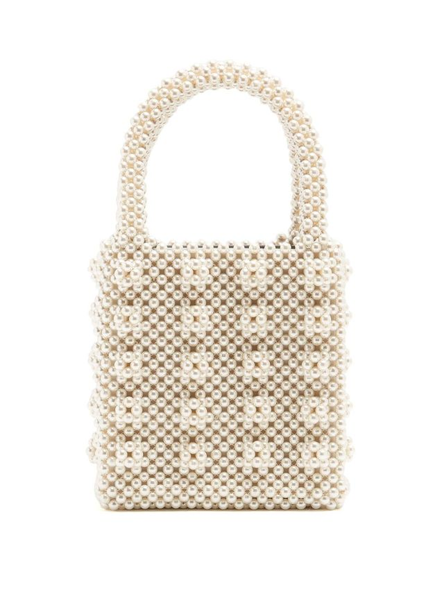 Antonia faux-pearl embellished bag