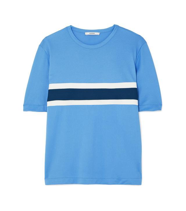 Dubois Striped Stretch-Piqué T-Shirt