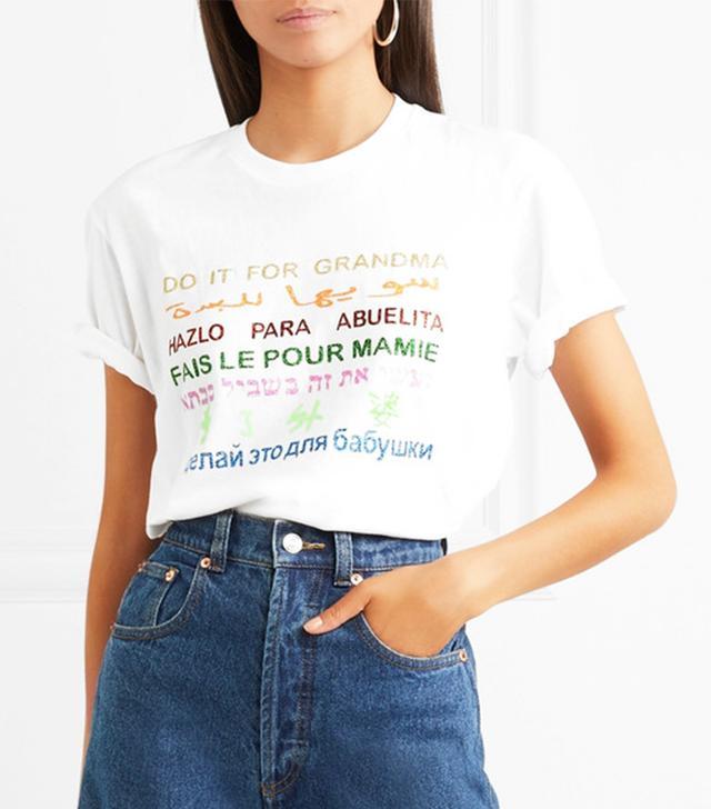 International Women's Day Printed Cotton-Jersey T-Shirt