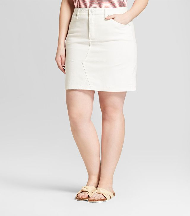 Who What Wear Denim Skirt