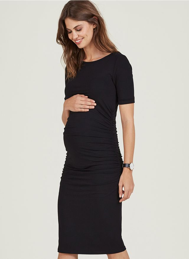 Isabella Oliver Ruched T-Shirt Maternity Dress