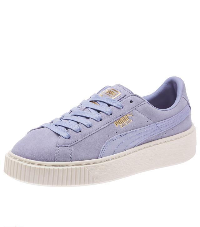Puma Suede Summer Satin Platform Sneakers