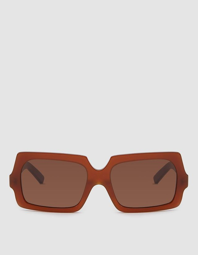 Acne George Large Sunglasses in Chocolate Brown