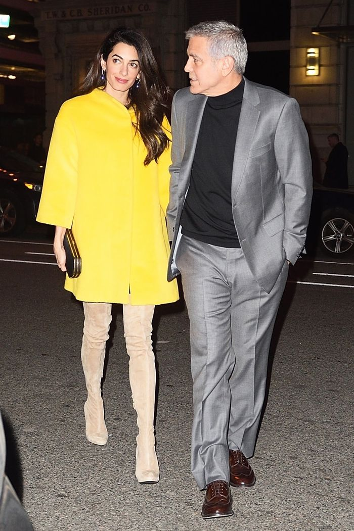 Amal and George Clooney, date night