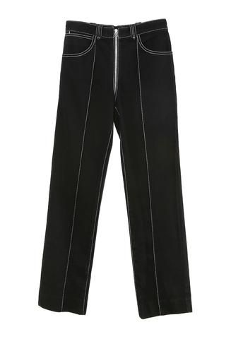 Lorod Zip Through Pant Black Denim