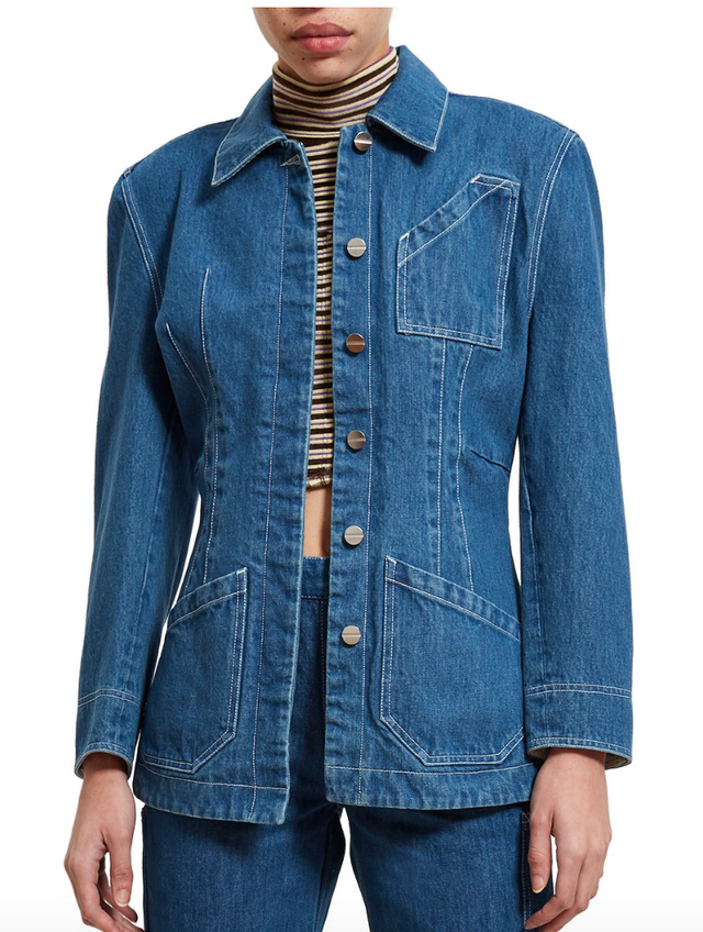 Lorod Mid Wash Denim Chore Coat