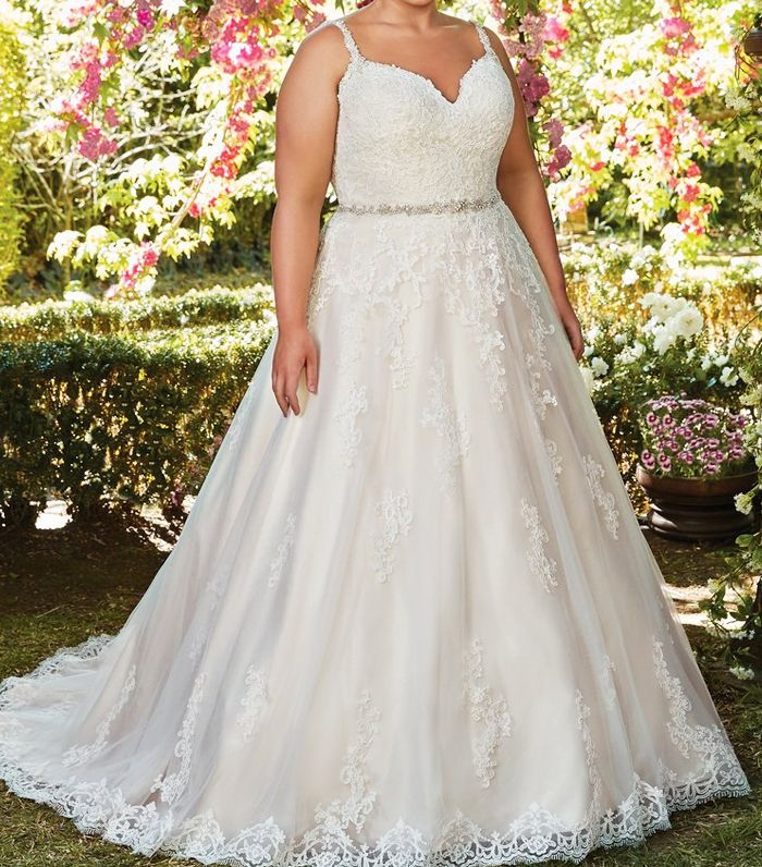 best plus-size wedding dresses: Maggie Sottero Allison