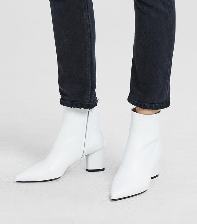 Theory Leather Ankle Boots